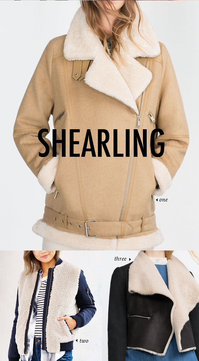 FALL WINTER 2015 TRENDS / shearling #fallstyle