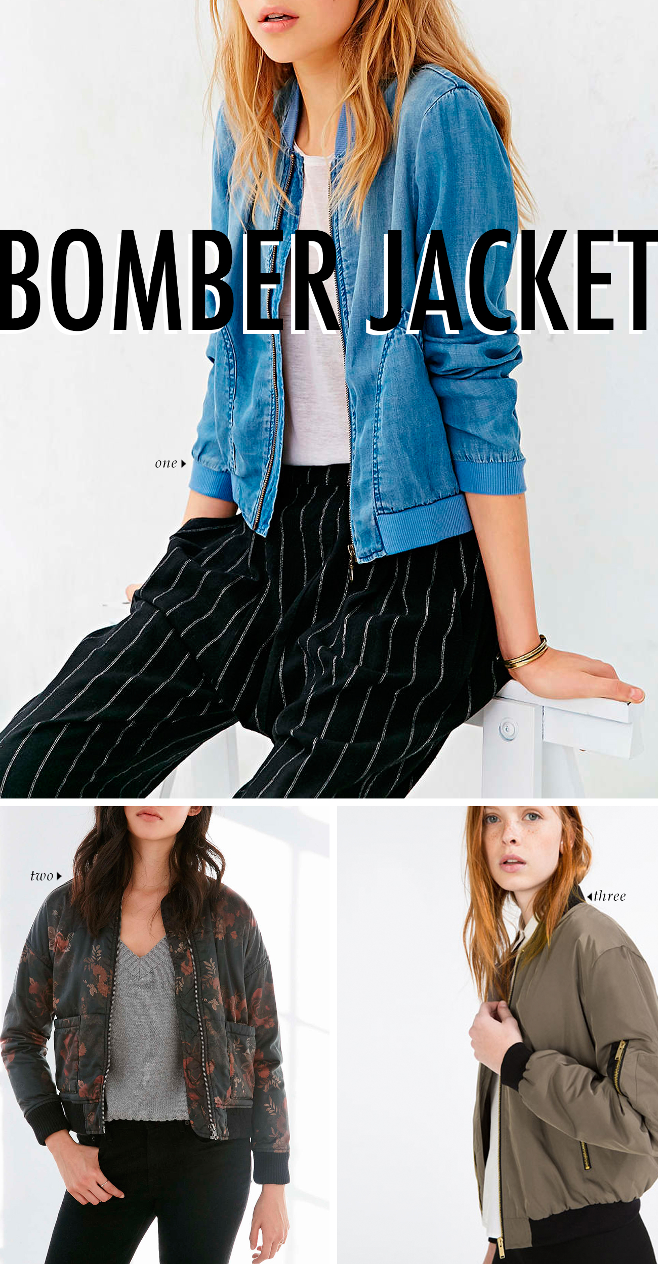 spring summer 2016 clothing trends - THE BOMBER JACKET #trends