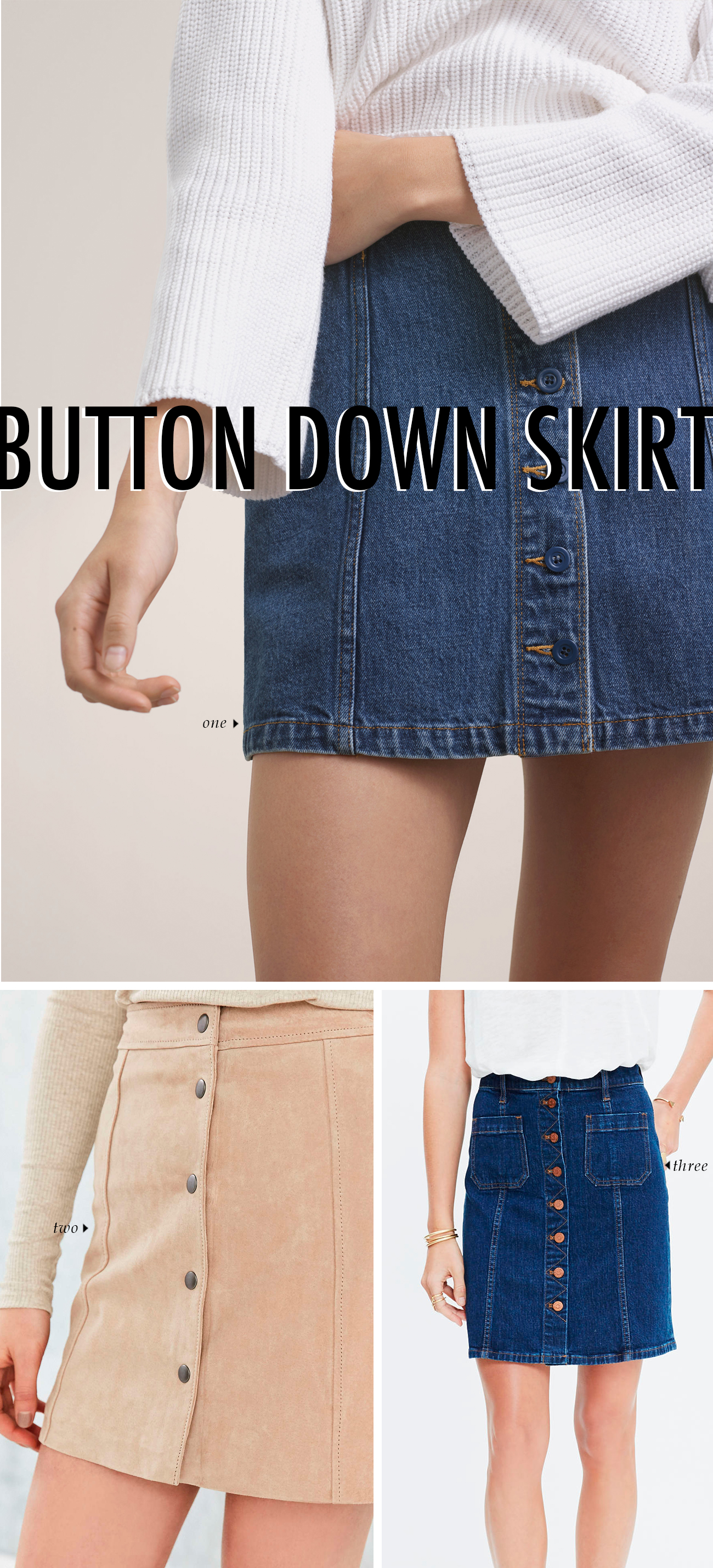 spring summer 2016 clothing trends - BUTTON DOWN SKIRT #trends