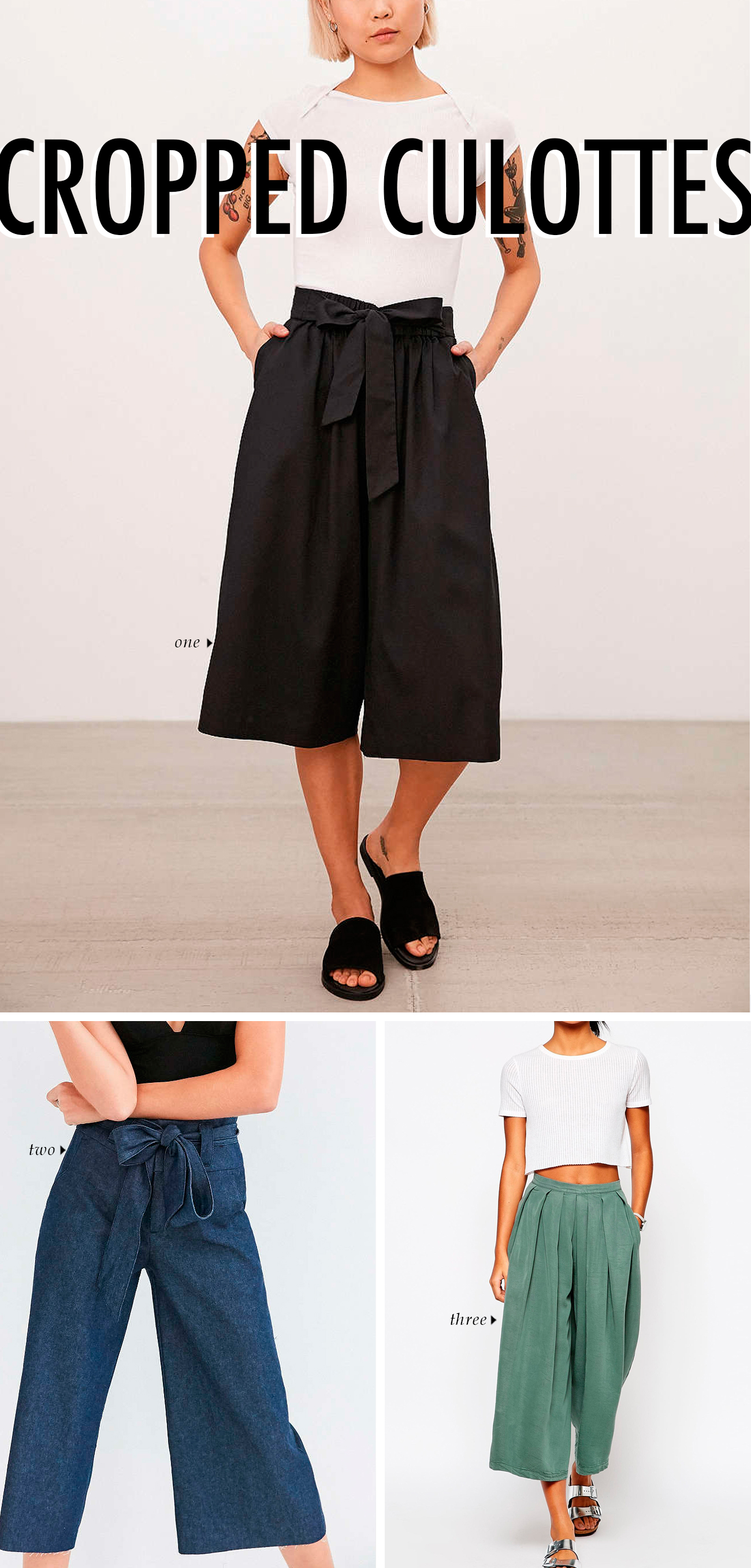 spring summer 2016 clothing trends - CROPPED CULOTTES #trends