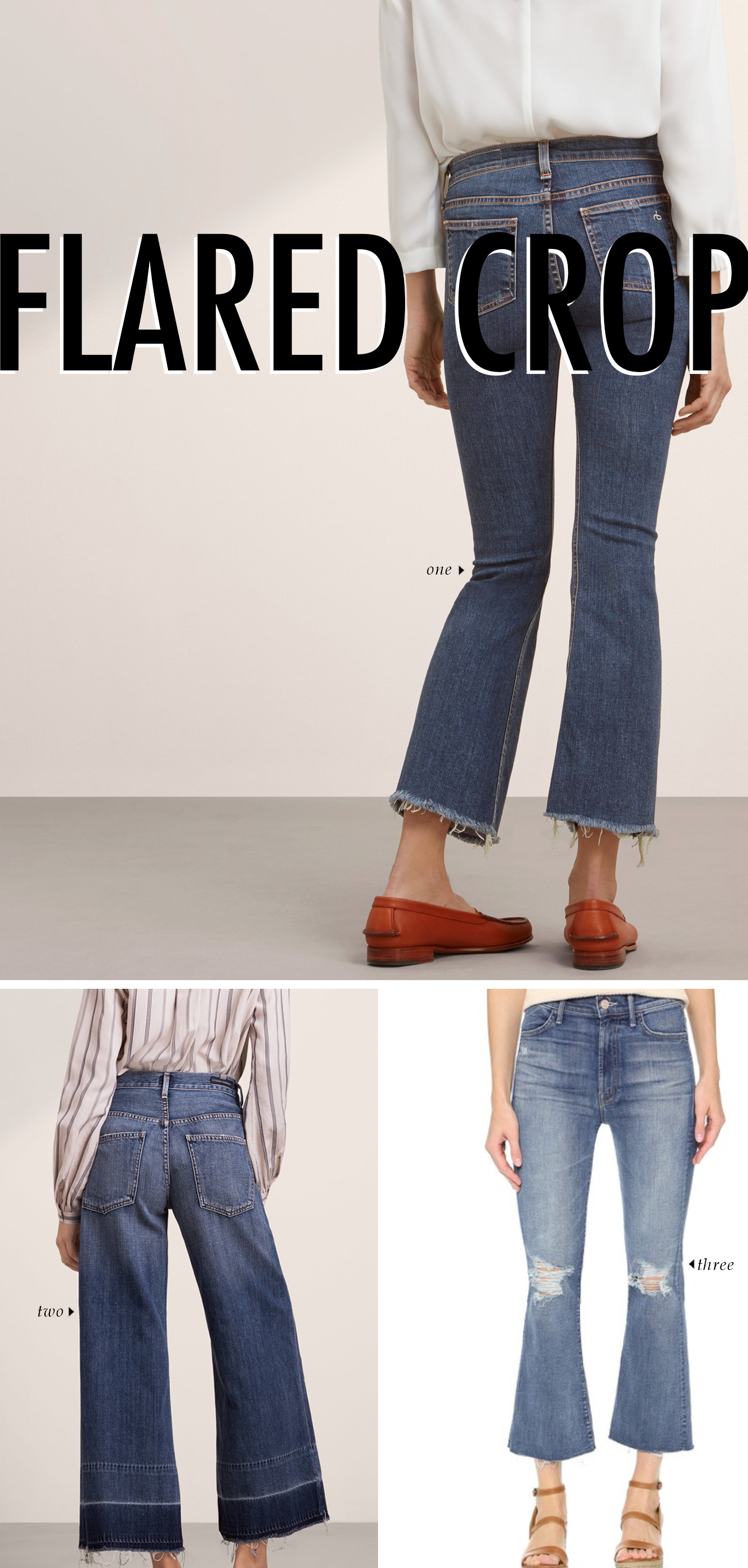 spring summer 2016 clothing trends - CROPPED FLARE JEAN #trends