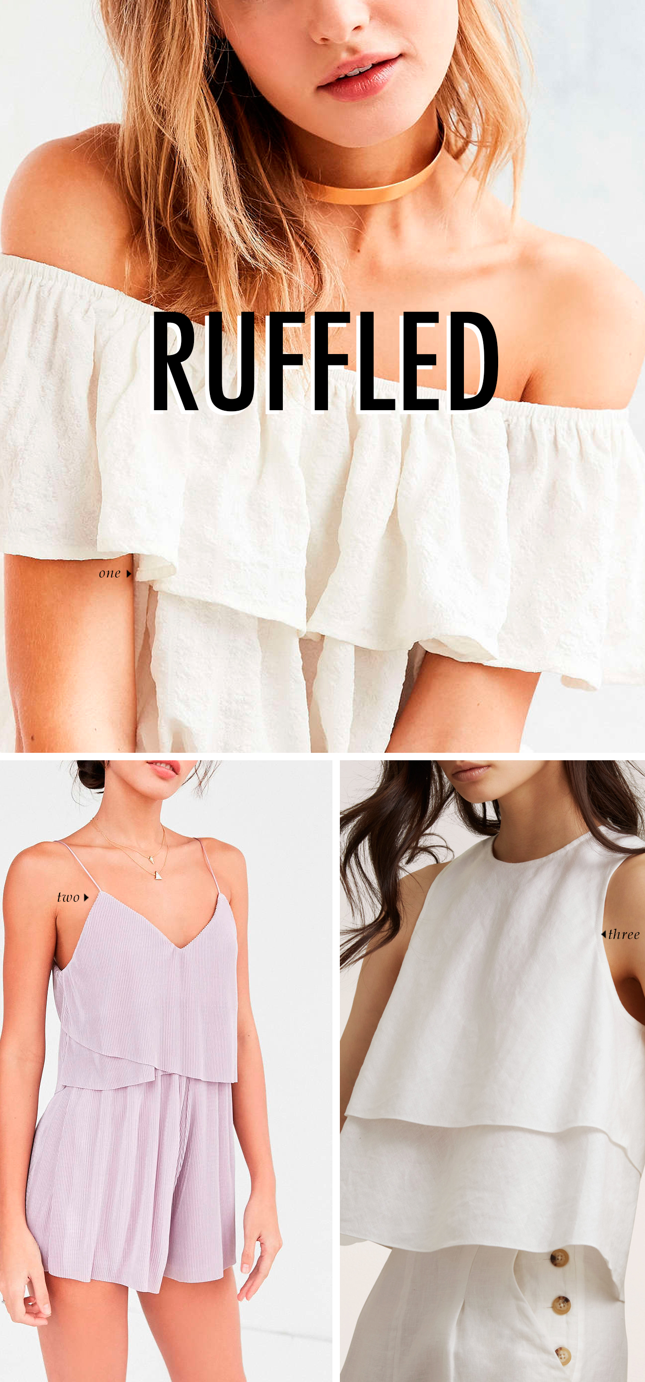 spring summer 2016 clothing trends - RUFFLED #trends