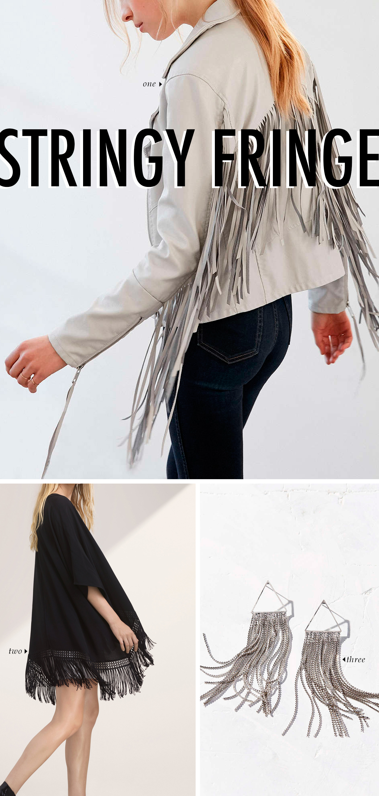 spring summer 2016 clothing trends - STRINGY FRINGE #trends