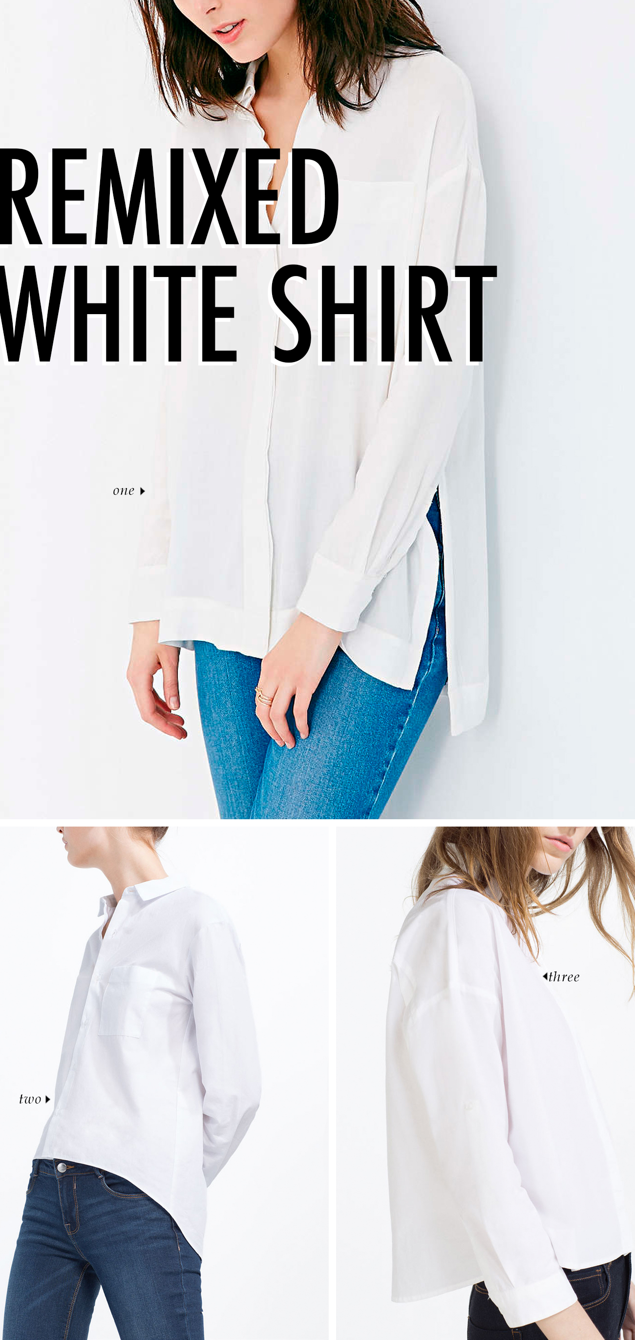 spring summer 2016 clothing trends - WHITE SHIRT REMIXED #trends