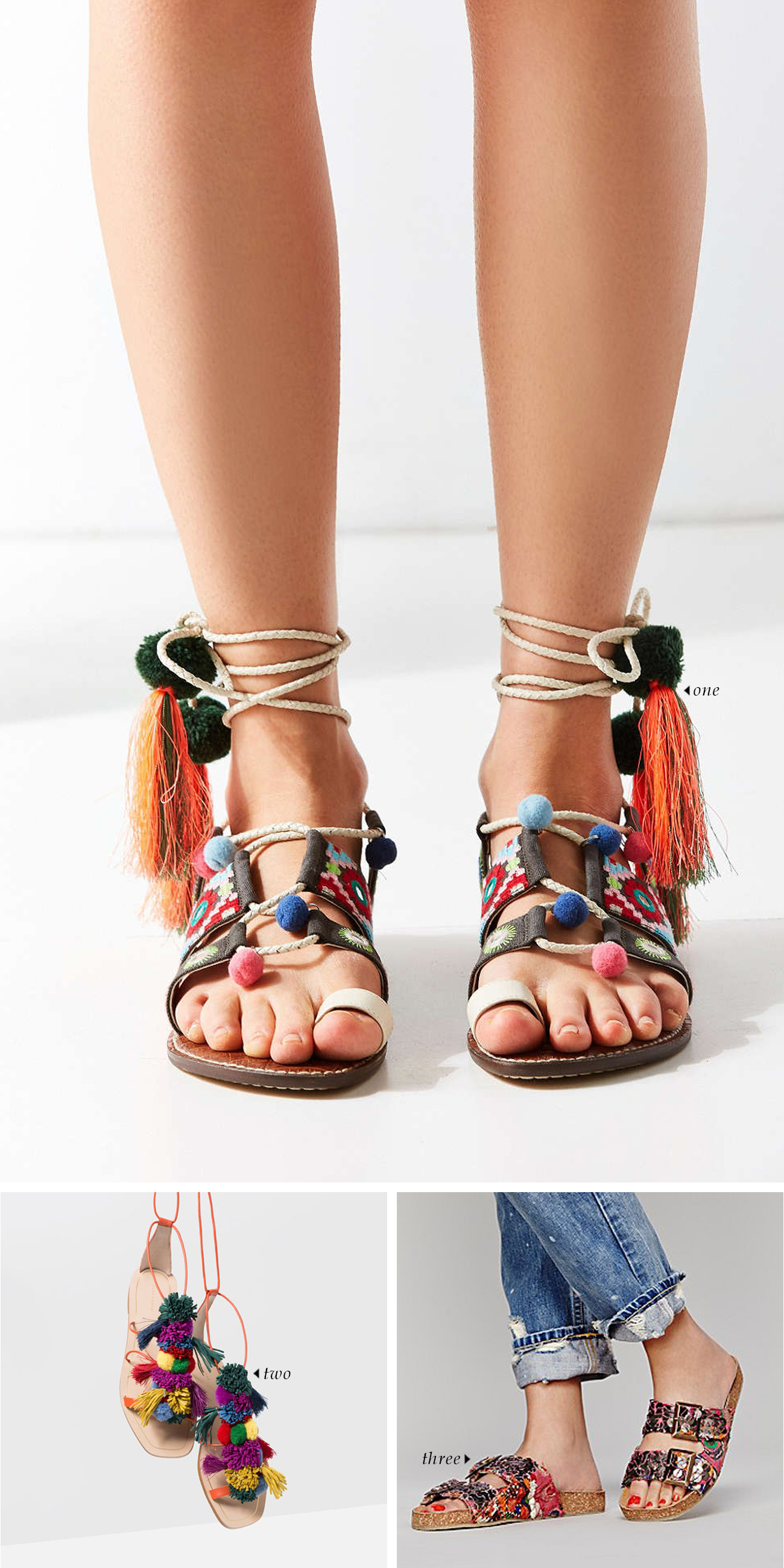 spring summer 2016 shoe trends | Rainbow Sandals