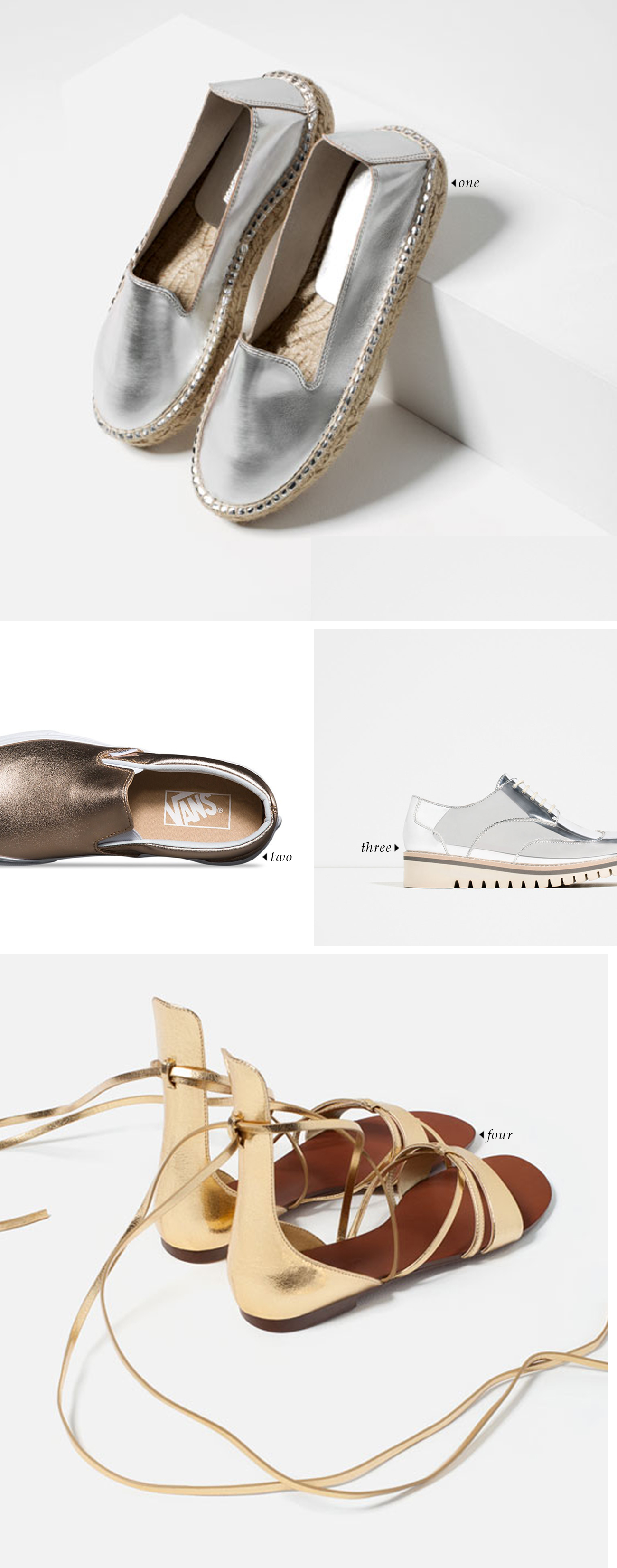 spring summer 2016 shoe trends | Silver and Gold