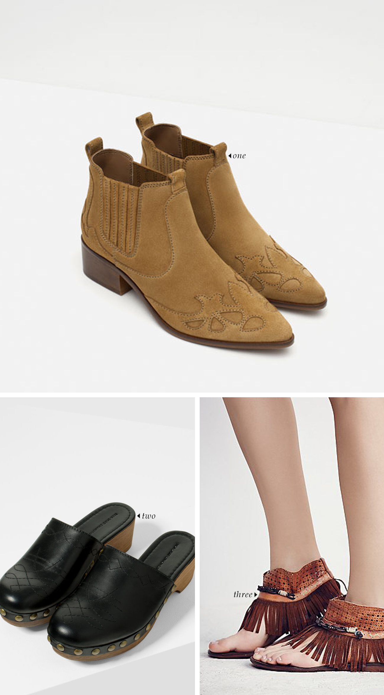 spring summer 2016 shoe trends | Western