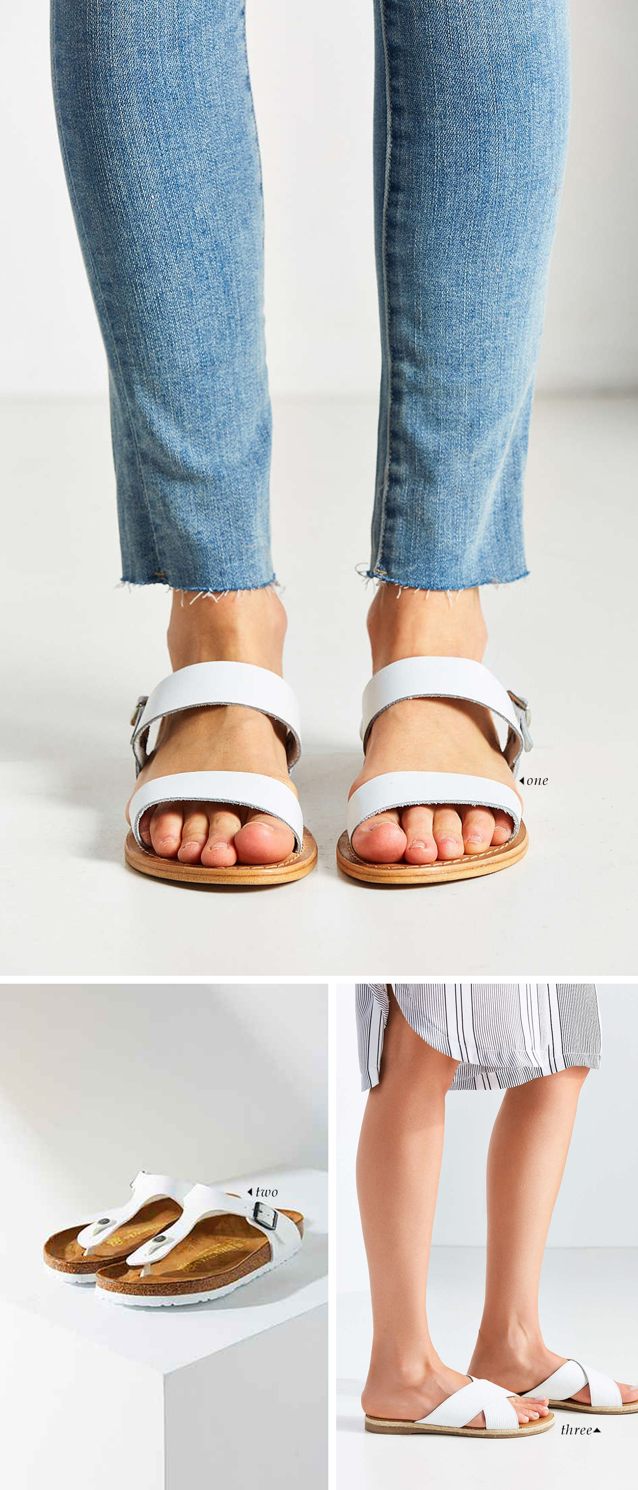 spring summer 2016 shoe trends | White Sandals