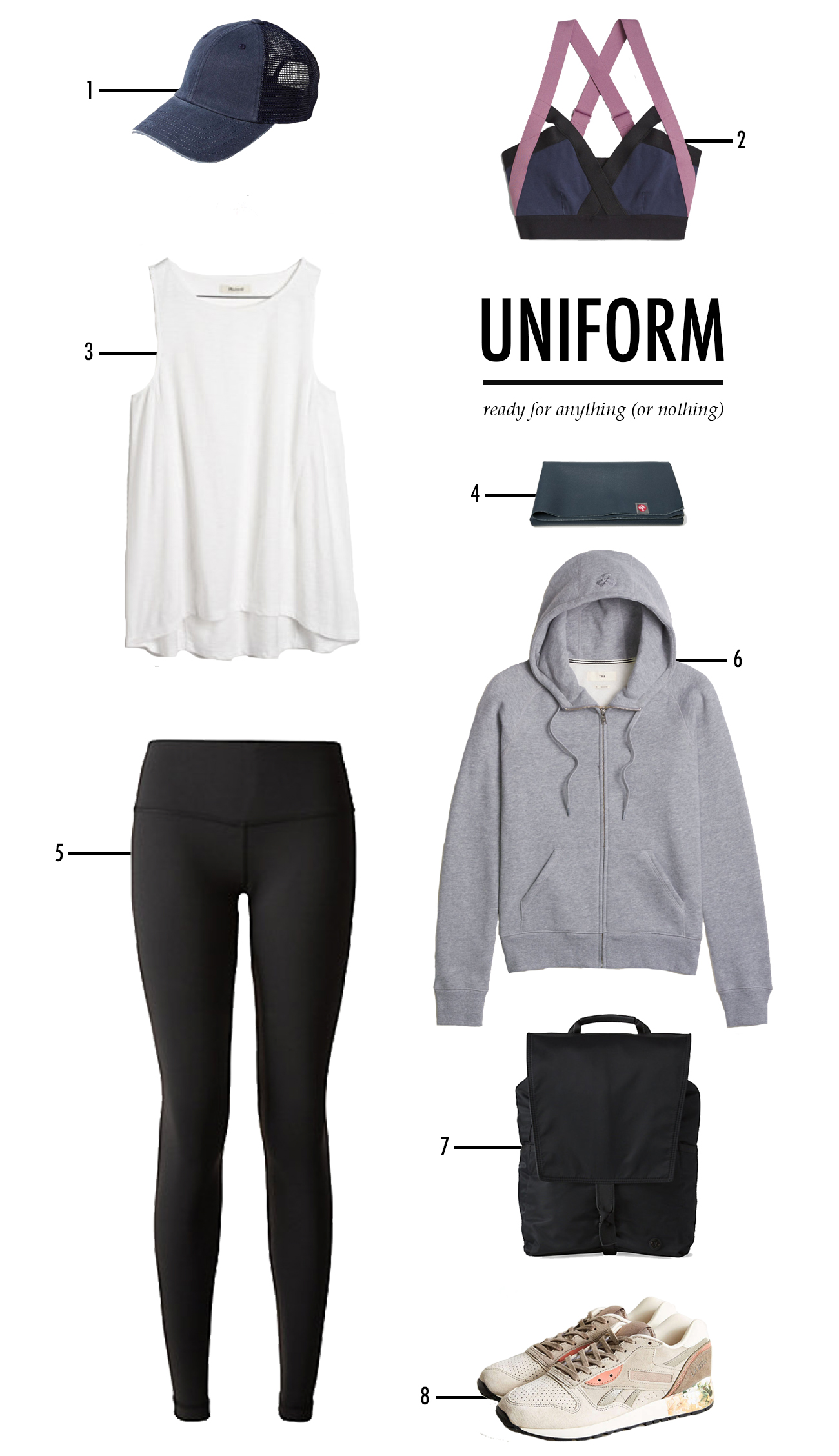 everyday uniform, yoga style